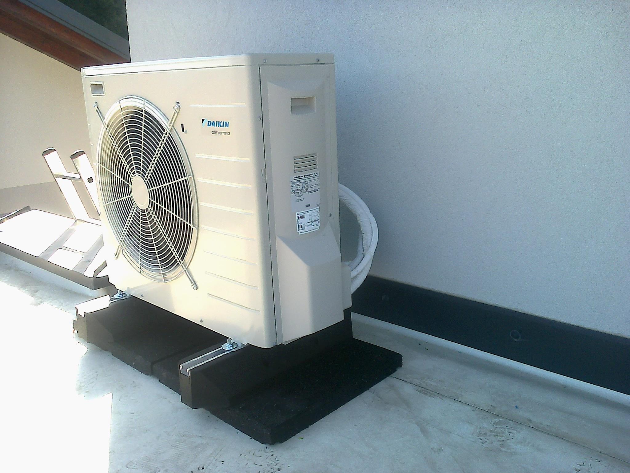 toplotna črpalka na ravni strehi